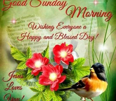 Good Sunday Morning Wishing Everyone a Happy and Blessed Day