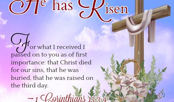 Easter Bible Verses - He Has Risen Quote Picture
